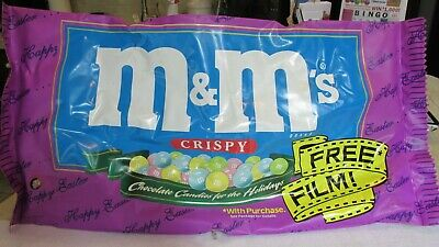 M&M's LARGE Inflatable Vinyl Candy Bag - dated 1999 - Crispy - GREAT PILLOW