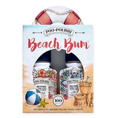Poo~Pourri® Before-You-Go® Toilet Spray Beach Bum Gift Set (Set of 2), 2oz * 2