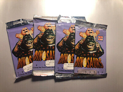 1992 Pro Set Dinosaur TV Show Trading Cards Sealed Foil Packs x4