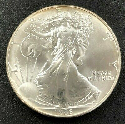 1986 American Silver Eagle 1 Ounce .999 Pure Silver - Uncirculated