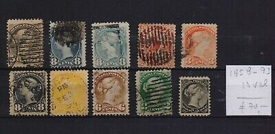 !  Canada  1858-1893.  Lot Of 10 Stamp. YT# . €70.00 !