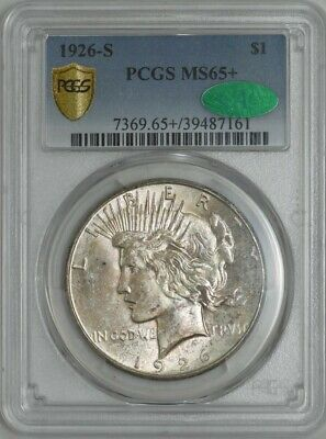1926-S Peace Dollar $ MS65+ Secure Plus PCGS ~ CAC 941742-19