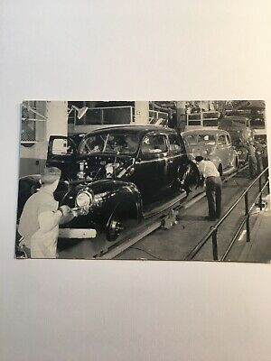 Rare Antique Postcard Of Assembly Line Of The Ford Motor Company RPPC