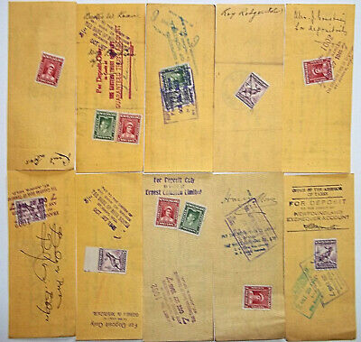 Newfoundland Savings Bank Cheques with stamps  Lot#2