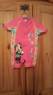 Girls Minnie mouse swimsuit age 6-9 months