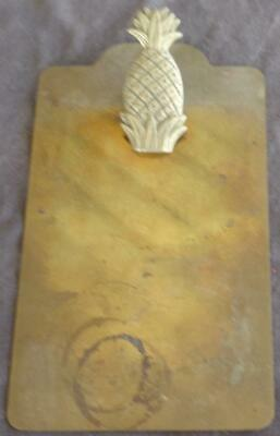 Small Size Solid Brass Clipboard - GDC - PINEAPPLE CLIP - CUTE & USEFUL ITEM