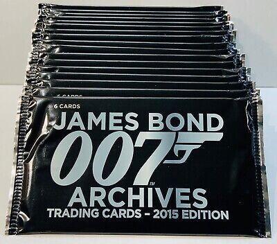 2015 Rittenhouse James Bond Archives Pack Lot (19) Unopened Hobby Packs 007
