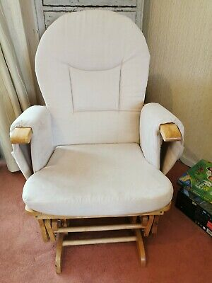 Babylo Nursery Glider Rocking Chair And Footstool