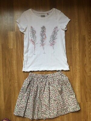 Next Girls Ditsy Floral Skirt & Top Set Age 10 (140cm)