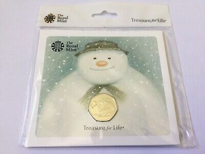 2018 The Snowman 50p Coin Brilliant Uncirculated Royal Mint Pack