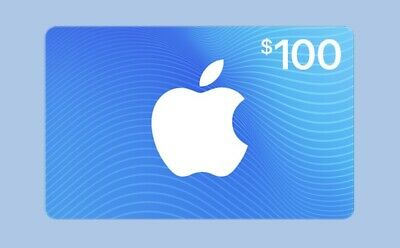 $ 100 Apple iTunes Gift Card