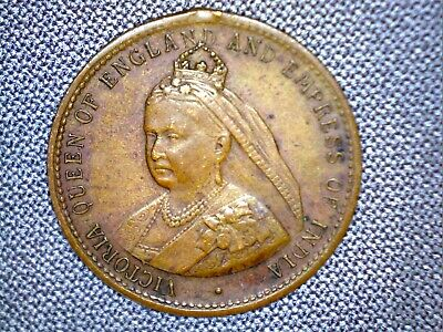 1837-1897 QUEEN VICTORIA LONGEST REIGN IN BRITISH HISTORY GERMAN MAkE MEDALLION
