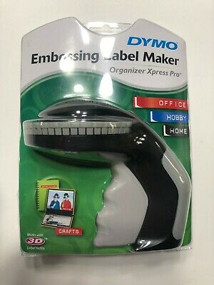 Embossing Label Maker Writer with 3 DYMO Label Tapes Organizer Xpress Label Pro
