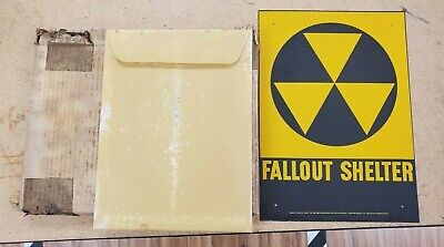 Great shape Fallout shelter sign W/ overlays original in box not a reproduction