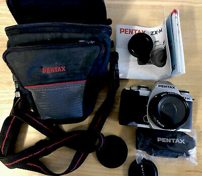 Pentax ZX-M Film Camera with Lens,case, Instructions +++, Clean!