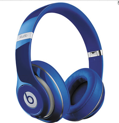 Beats by Dr. Dre Studio 2.0 Over-Ear Wired Headphones (Blue)-refurbished