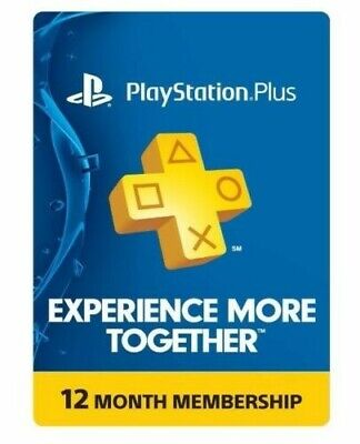 Sony PlayStation Plus 1 Year Subscription Membership Card (3000133)