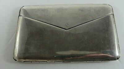 Vintage Sterling Silver Writing Paper Notecard Postcard Travel Case 5.47oz