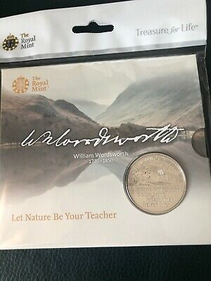 William Wordsworth Coin New Royal Mint 2020 BU £5 Official Five Pound