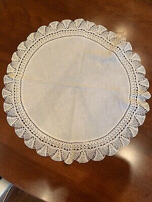 Vintage Large Round Crocheted Doily