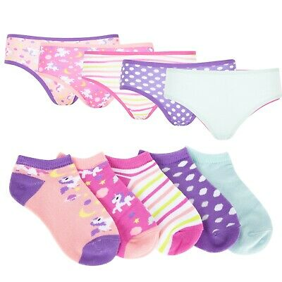 BERRY & WILSON *GIRLS 5 PACK BRIEFS AND TRAINER SOCK SET* SIZES 3-4yrs to 5-6yrs