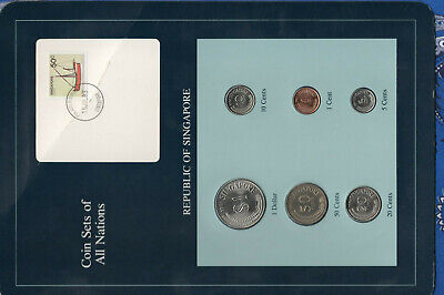 Coin Sets of All Nations Singapore 1981-1984 UNC 5 cents 1983 steel