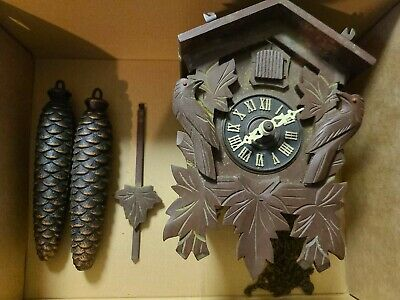 Vintage 8 Day Cuckoo Clock Germany Working Condition Unknown