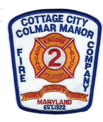 Cottage City Colmar Manor (PG's County) MD Maryland Volunteer Fire Dept. patch