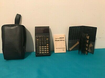 TI programmable 59 Caltulator bundle including master library & UNTESTED AS IS