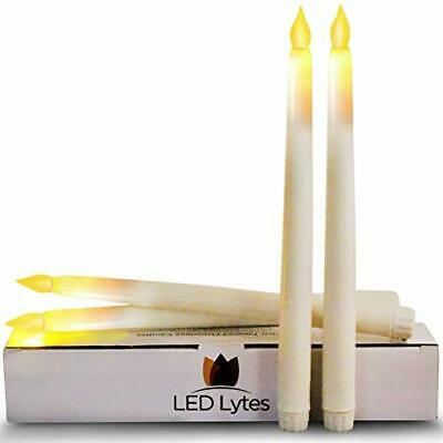 Tapered Timer Candlesticks Flameless Candles - Set of 4 Battery Operated LED 11