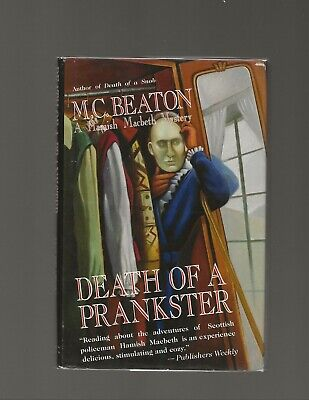 Death of a Prankster M.C. Beaton SIGNED First Edition First Printing