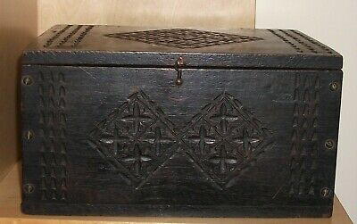 Beautiful Antique Carved Box.