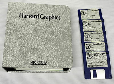Harvard Graphics Software and Manuals  - ships worldwide!