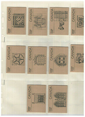 CANADA BOOKLETS - SB100 - SET OF 10 (c£55.00) - see scan