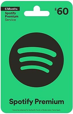 Spotify Premium 6 Months Pass (New Customers Only) - Code Sent Via E-Mail.