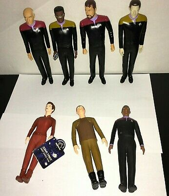 Assorted Large Lot Of 7 Vintage Star Trek Vinyl Action Figures / Dolls 1990'S