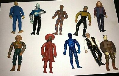 "Large Lot Of 10 Star Trek 5"" Action Figures  Playmates 1992 93 94 96 98"