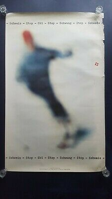 Orig. travel poster, skiing Switzerland, Wintersport Schweiz, Franz Fässler, '62