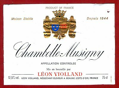 42/17 Étiquette BOURGOGNE-CHAMBOLLE-MUSIGNY Léon VIOLLAND BURGUNDY Label WINE