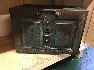 Church Strong Box/Safe/Chest Heavy Cast Iron With Key Dated 1817
