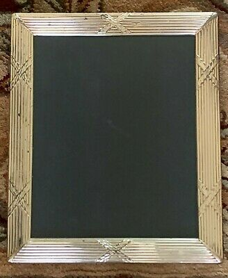 Sheffield English Sterling Silver and Lacquered Large Picture Frame