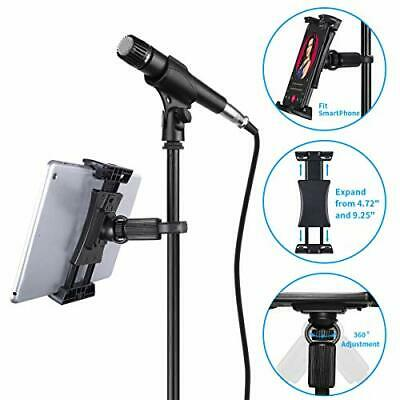 Tablet Mounts for Microphone Stands, Tensun Microphone Tablet Holder, Mic Music
