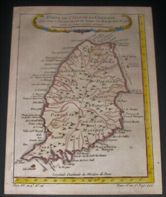 1784 Map of Grenada, Hand Colored