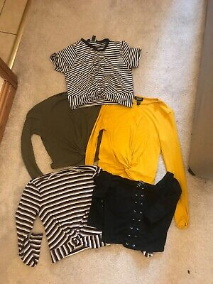 5 girls tops (crop style) from newlook size 12-13