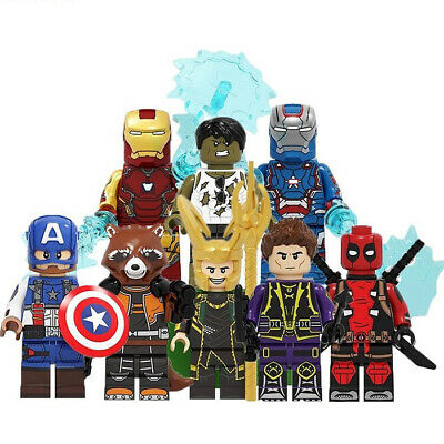 Lego Avengers Marvel DC Minifigures Blocks Thor  Iron Man  Game Super Heroes Toy