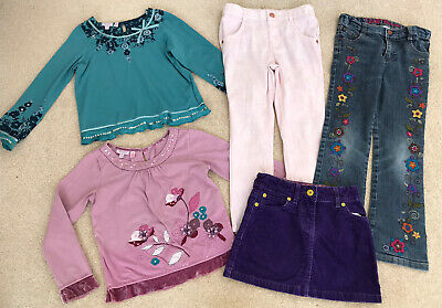5X Bundle Girls L/S Tops Trousers Jeans - Age 5-6 Yrs Monsoon Boden Ted Baker