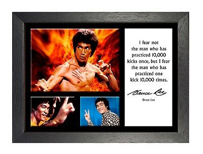 Bruce Lee 14 Hong Kong American Actor Poster Motivational Quote Determ Strong