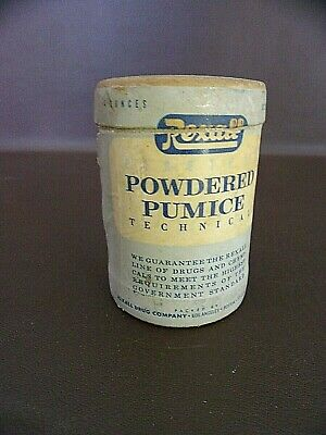 Vintage Rexal Powdered Pumice Cardboard Container With Contents