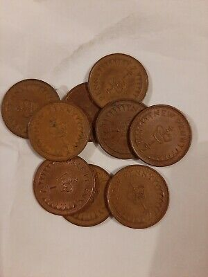 Job Lot Of 9 Decimal Half Pennies. English Coins. Ha'pennies