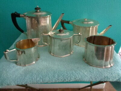 Antique DuPont Family (Industrialists) 6 pc. Monogrammed Sterling Silver Tea Set